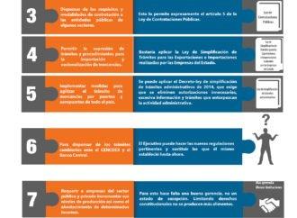10 medidas del Decreto de Emergencia que tienen solución ordinaria