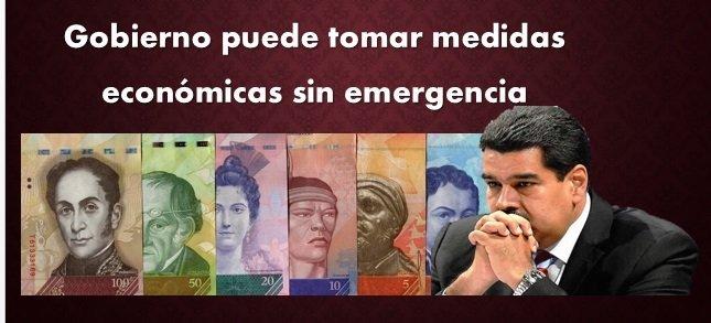Gobierno tiene poder suficiente para tomar medidas económicas sin emergencia