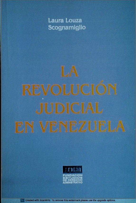 La Revolución Judicial en Venezuela