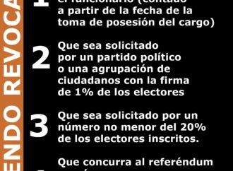5 exigencias para el referendo revocatorio