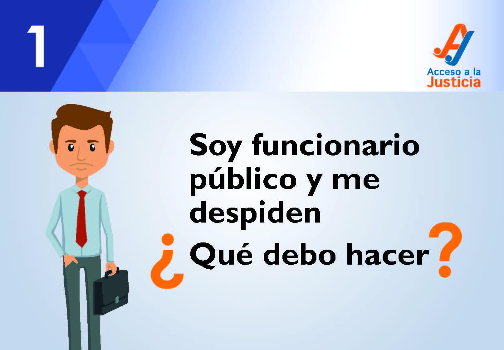 Soy funcionario público y me despidieron, ¿qué hago?