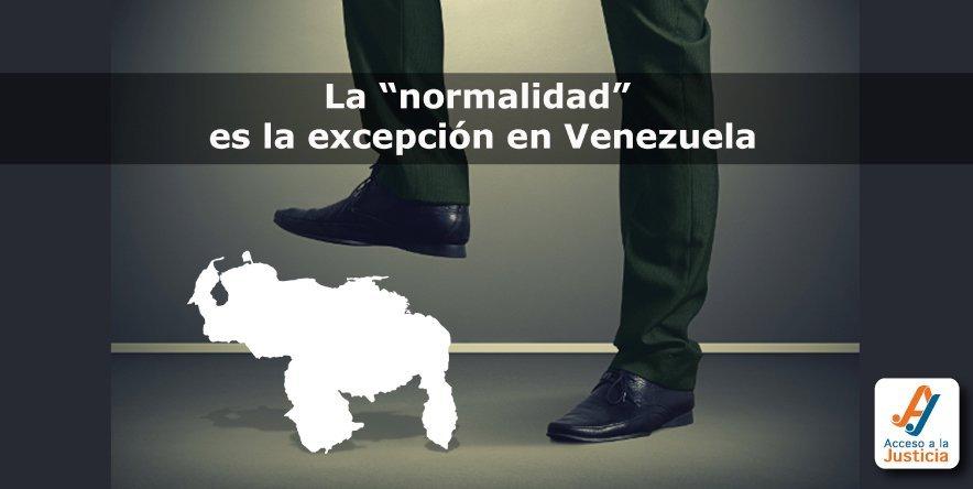 """La """"normalidad"""" es la excepción en Venezuela"""