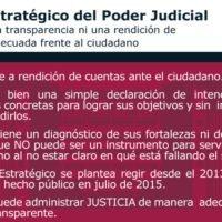 Plan del Poder Judicial vs Ciudadano /Falta de Rendición de Cuentas al Ciudadano