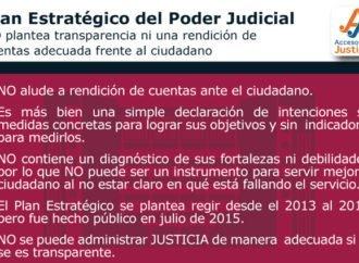 Plan del Poder Judicial vs. Ciudadano/falta de rendición de cuentas al ciudadano