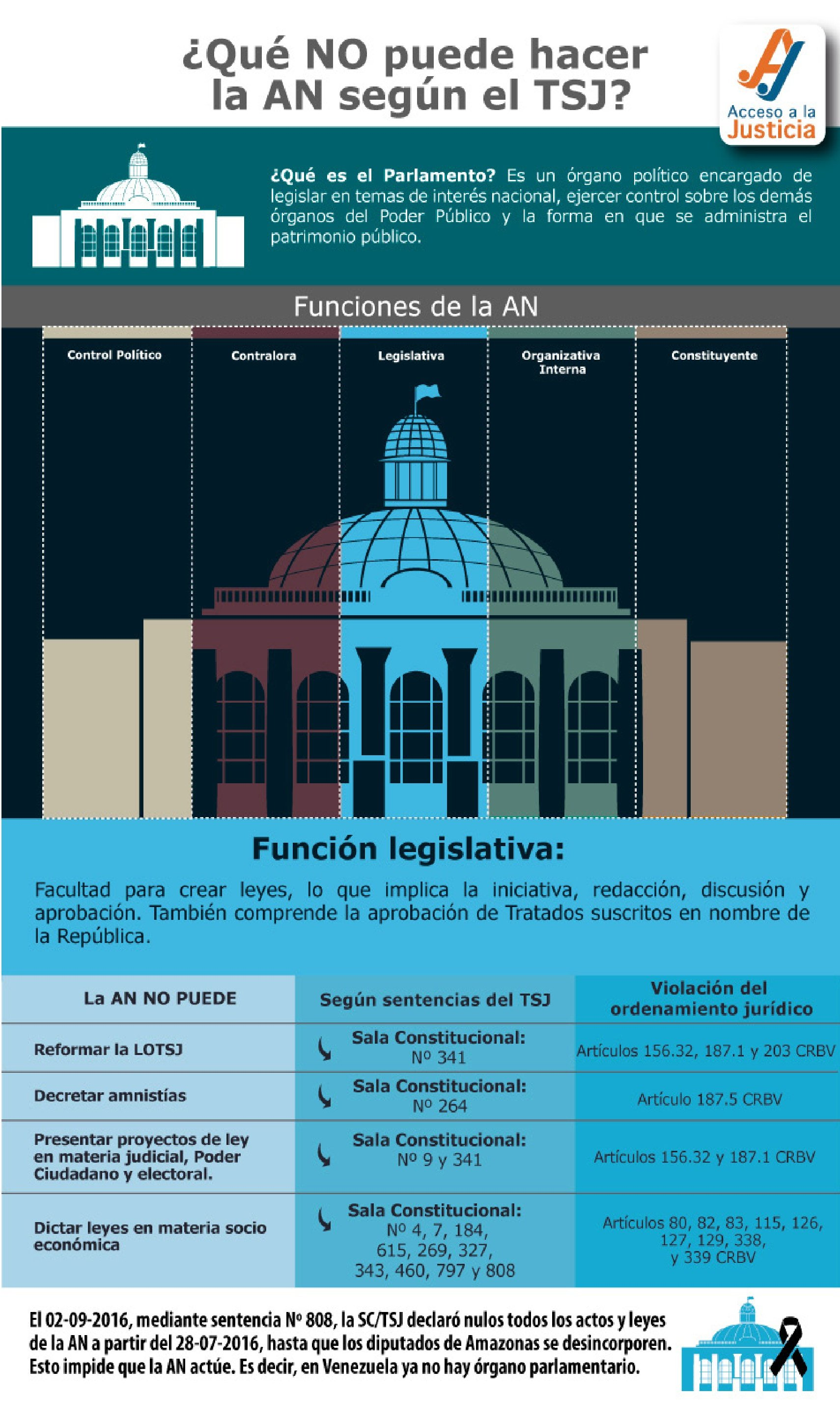 TSJ vs. función legislativa de la AN