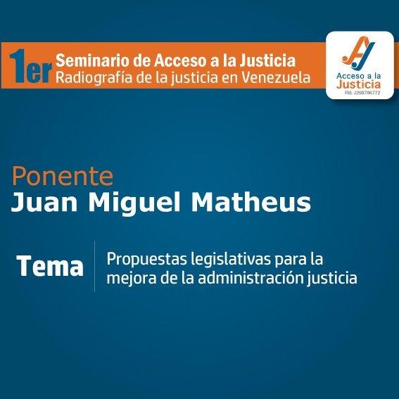 «3 razones por las que la MUD fijó su mirada en la LOTSJ», Juan Miguel Matheus