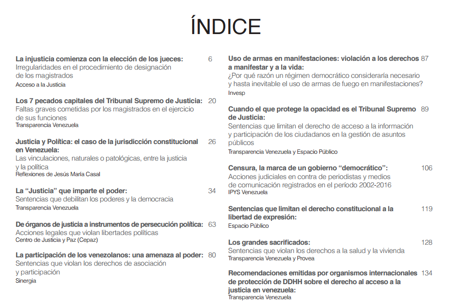 indice manual de agravios