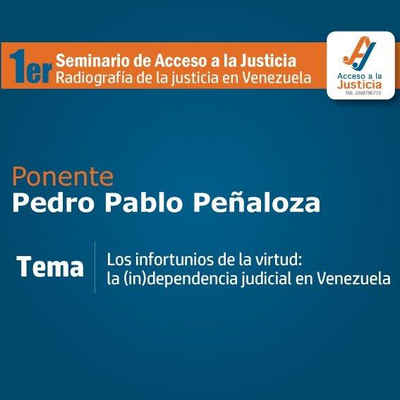 """""""Una mirada a la Transparencia en la justicia venezolana"""", Pedro Pablo Peñaloza"""
