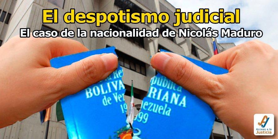 El despotismo judicial