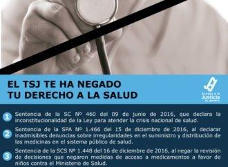 El TSJ te ha negado tu derecho a la salud