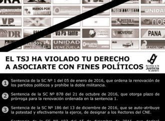 El TSJ ha violado tu derecho a asociarte con fines políticos
