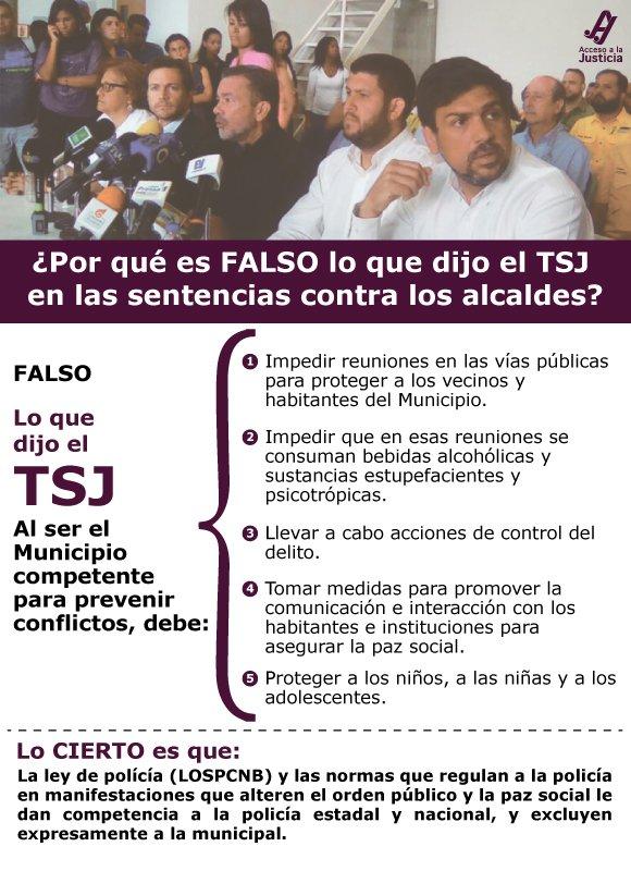 ¿Por qué es FALSO lo que dijo el TSJ en las sentencias sobre los alcaldes?