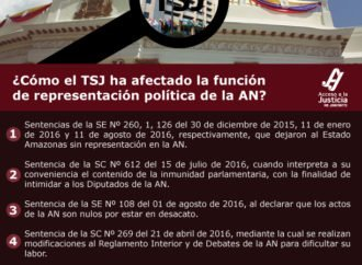 ¿Comó el TSJ ha afectado la función de representación política de la AN ?