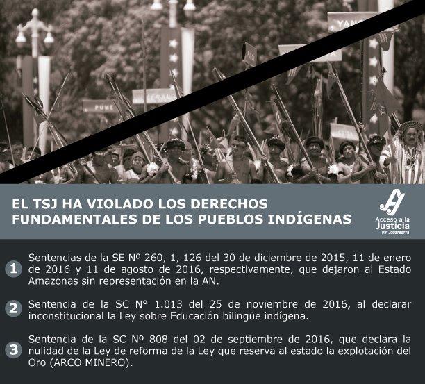 El TSJ ha violado los derechos fundamentales de los pueblos indígenas