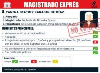 Magistrado exprés Yanina Karabin