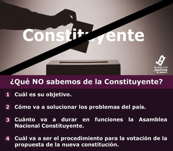 ¿Qué NO sabemos de la constituyente  ?