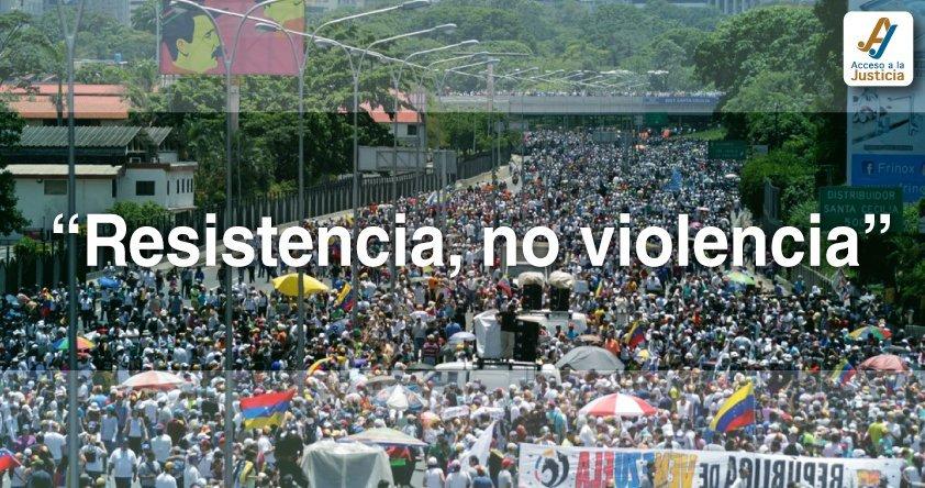 Derecho a la rebelión implica resistencia, no violencia