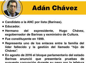 """Los """"peces gordos"""" de la Constituyente: Adán Chávez"""