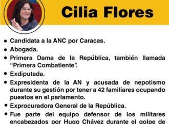 """Los """"peces gordos"""" de la Constituyente: Cilia Flores"""