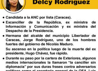 """Los """"peces gordos"""" de la Constituyente: Delcy Rodríguez"""