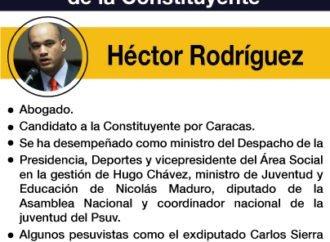 """Los """"peces gordos"""" de la Constituyente: Héctor Rodríguez"""