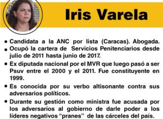 """Los """"peces gordos"""" de la Constituyente: Iris Varela"""