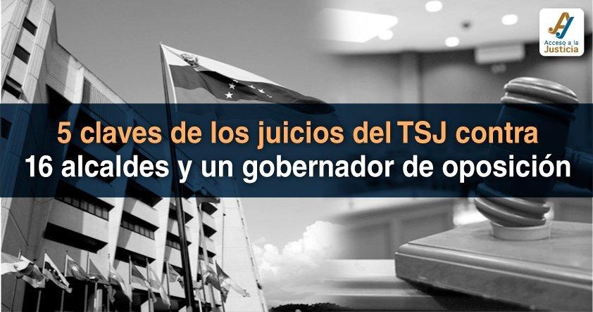 5 claves de los juicios del TSJ contra 16 alcaldes y un gobernador de oposición