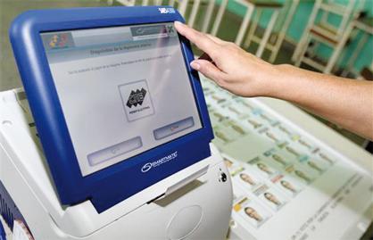 máquina de votación