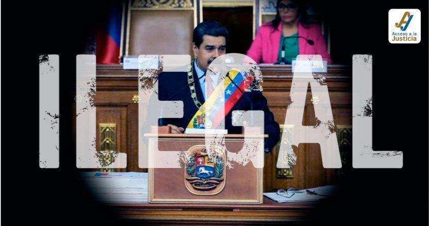 Maduro presentó memoria y cuenta bajo el manto de la ilegalidad