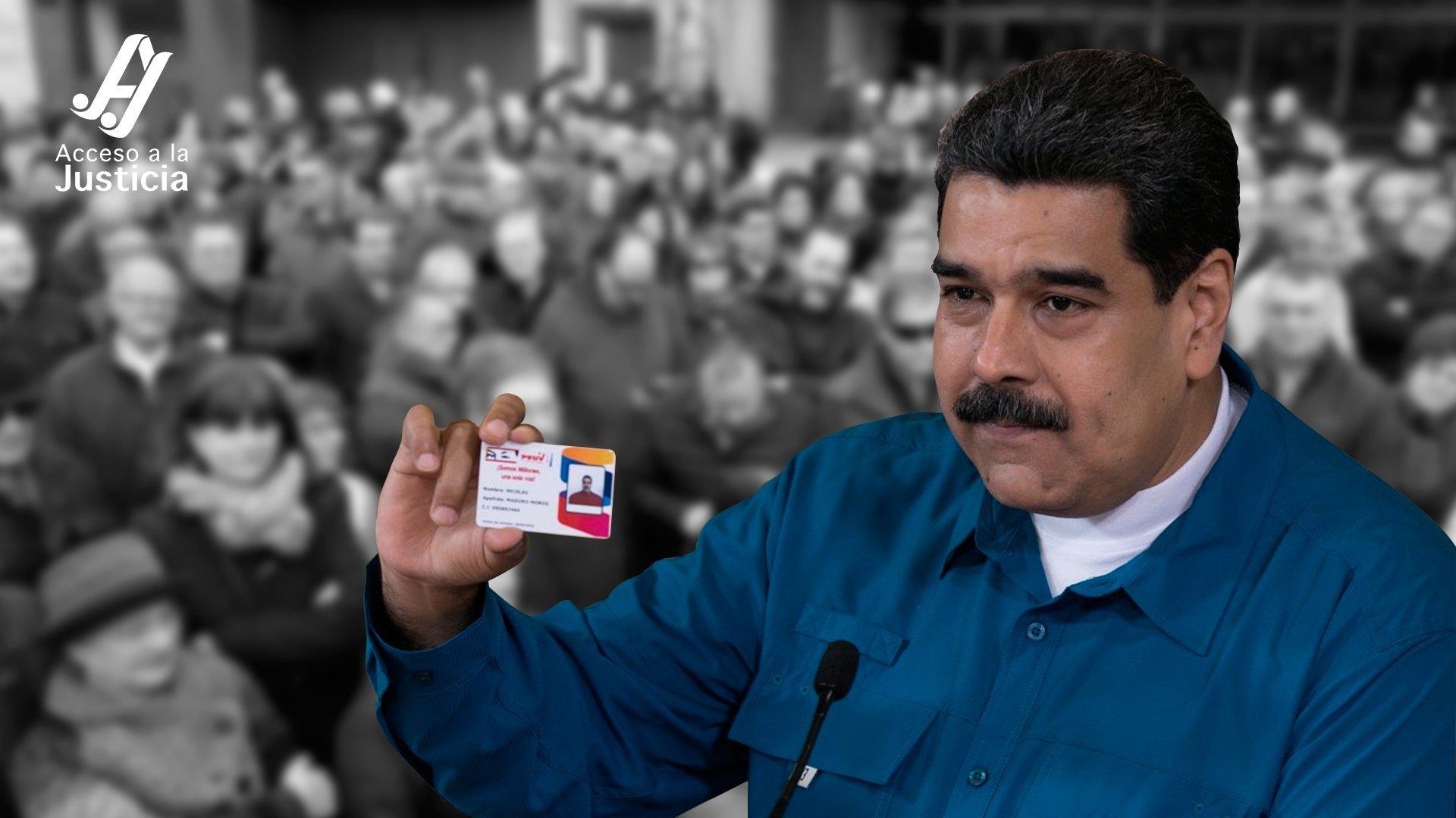 Coacción social y control político a través del Carnet de la Patria