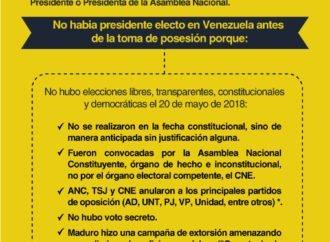 Legalidad de la juramentación de Juan Guaidó