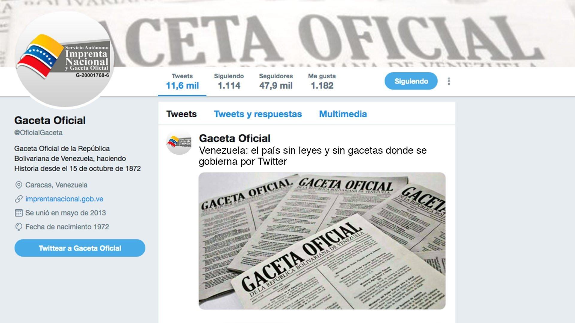 Venezuela: en busca de las gacetas perdidas