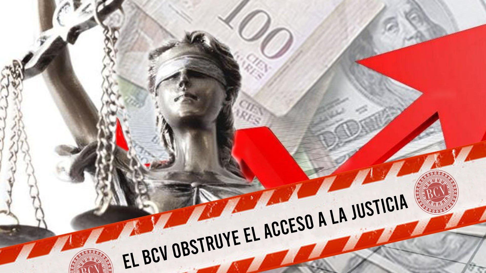 El Banco Central de Venezuela obstruye el acceso a la justicia