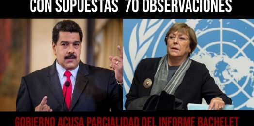 Con supuestas 70 observaciones el Gobierno acusa parcialidad del informe Bachelet y niega persecución a diputados