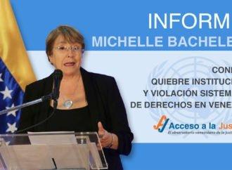 Informe Bachelet confirma quiebre institucional y violación sistemática de derechos en Venezuela