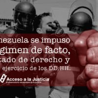En Venezuela se impuso un régimen de facto, sin estado de derecho y con nulo ejercicio de los DD. HH