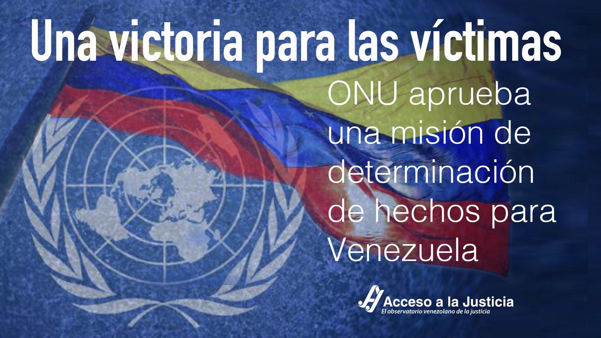 Una victoria para las víctimas: ONU aprueba una misión de determinación de hechos para Venezuela