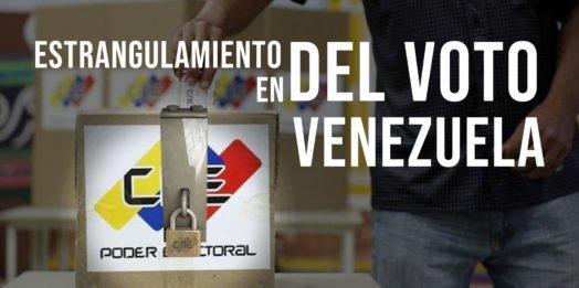 El estrangulamiento del voto en Venezuela