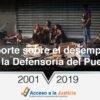 Reporte sobre el desempeño de la Defensoría del Pueblo (2001-2019)