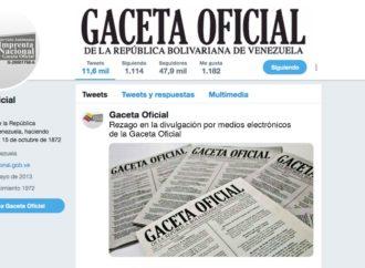Rezago en la divulgación por medios electrónicos de la Gaceta Oficial