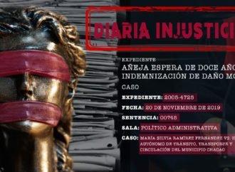 Añeja espera de doce años por indemnización de daño moral