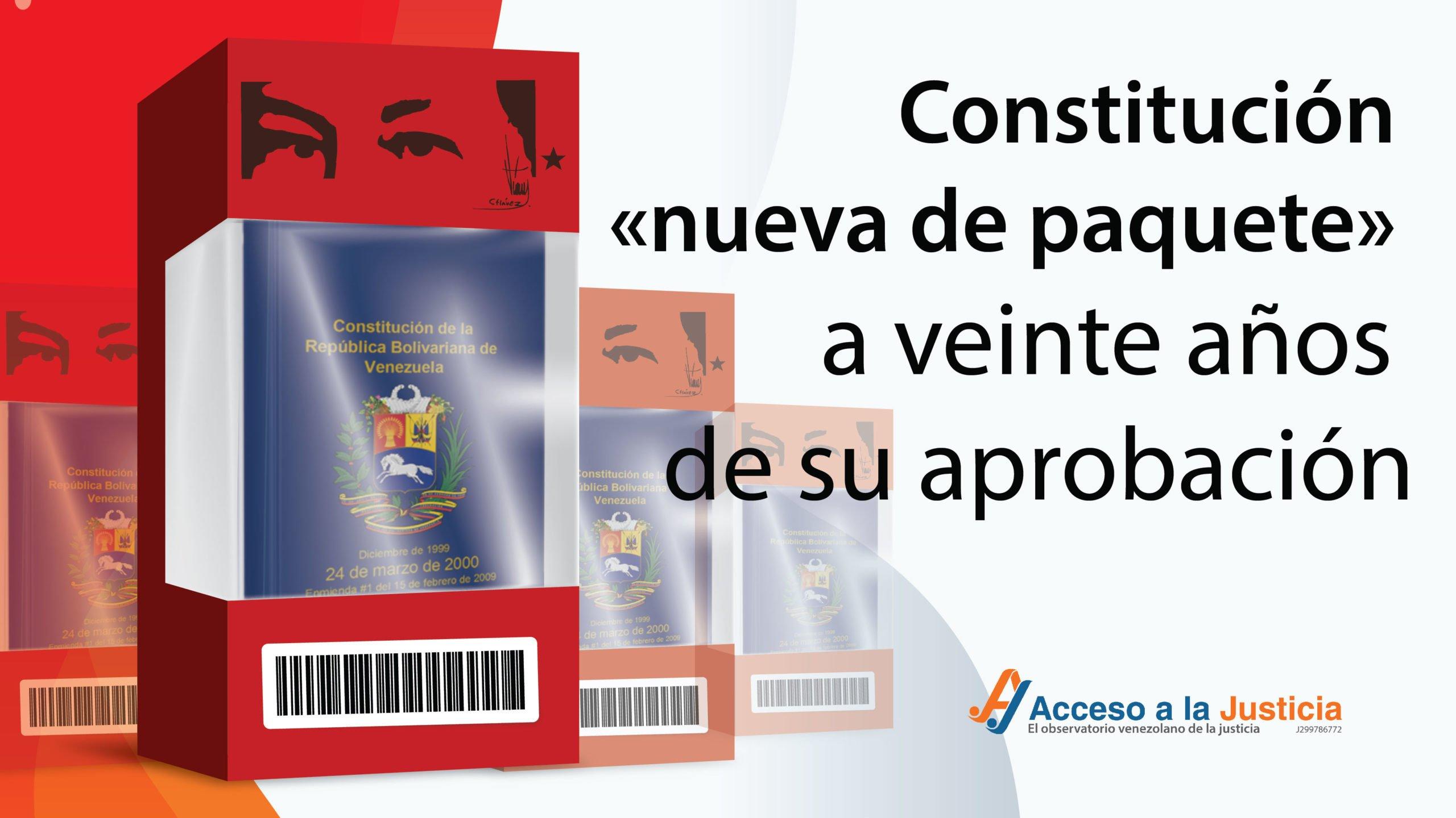 Constitución «nueva de paquete» a veinte años de su aprobación