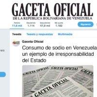 Consumo de sodio en Venezuela: un ejemplo de irresponsabilidad del Estado