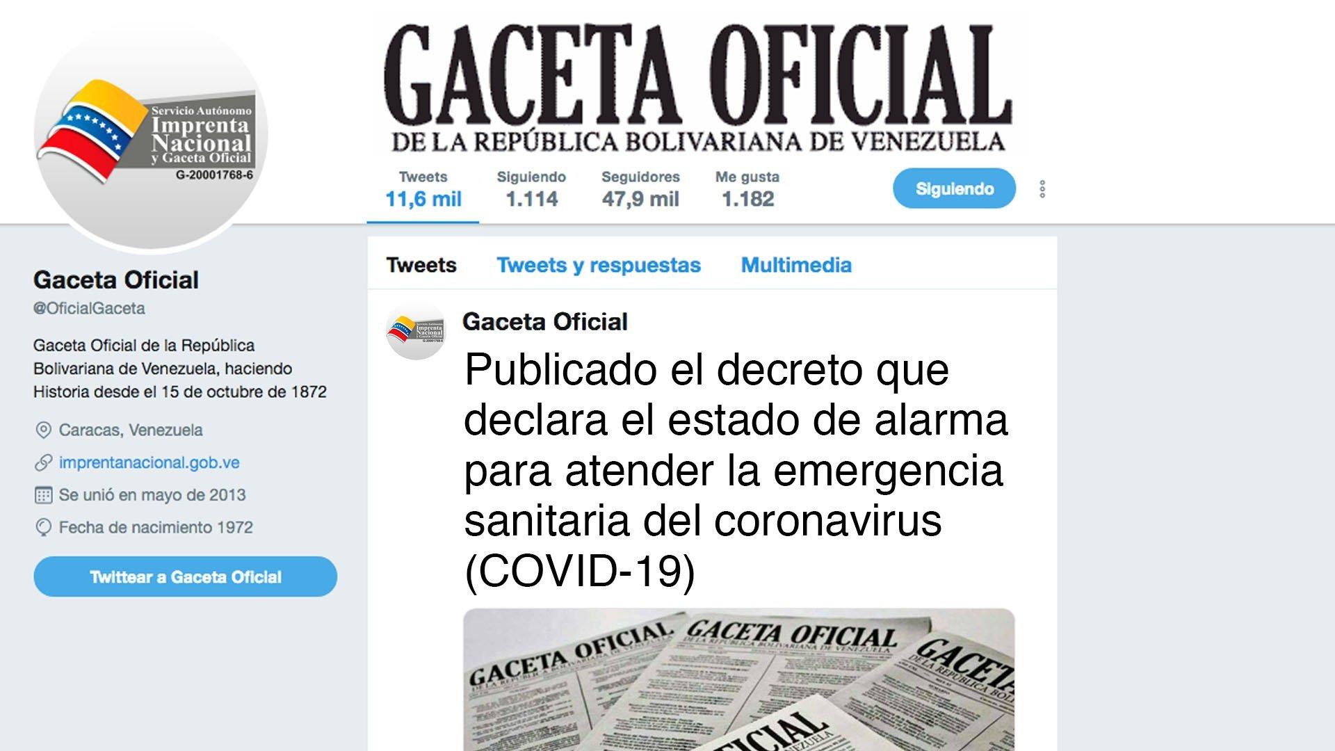 Publicado el decreto que declara el estado de alarma para atender la emergencia sanitaria del coronavirus (COVID-19)