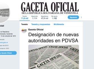 Designación de nuevas autoridades en PDVSA