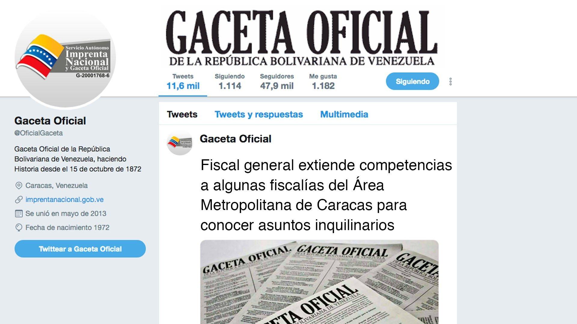 Fiscal general extiende competencias a algunas fiscalías del Área Metropolitana de Caracas para conocer asuntos inquilinarios