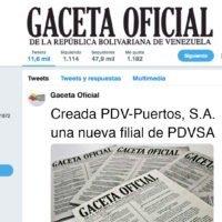 Creada PDV-Puertos, S.A.  una nueva filial de PDVSA
