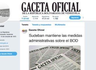Sudeban mantiene las medidas administrativas sobre el BOD