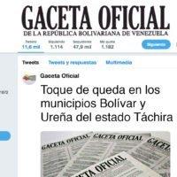 Toque de queda en los municipios Bolívar y Ureña del estado Táchira