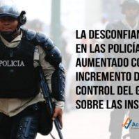 La desconfianza en las policías ha aumentado a medida que ha crecido el control del Gobierno sobre las instituciones